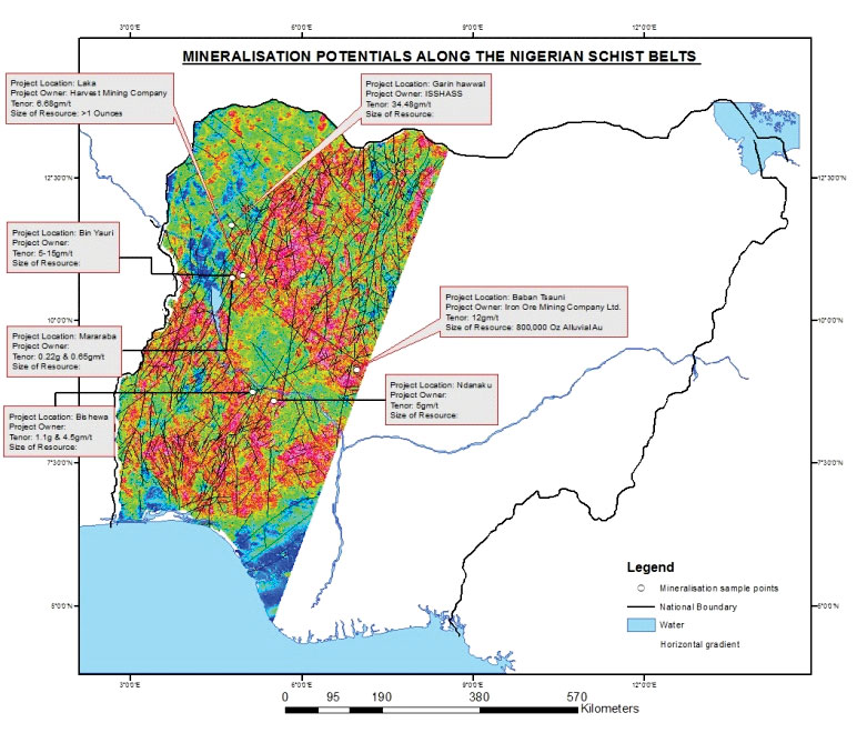 Nigeria - Gold Project - gold projects map