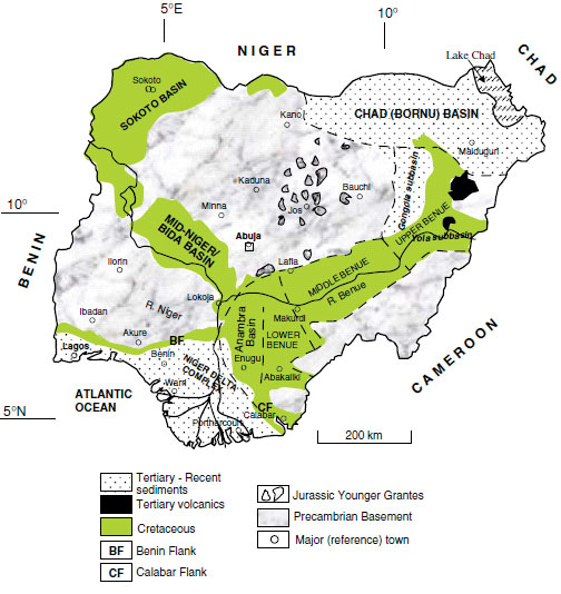 Nigeria - Iron Ore Project - geological map