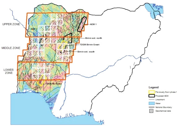 Nigeria - Lead Project - airborne and structural interpretation