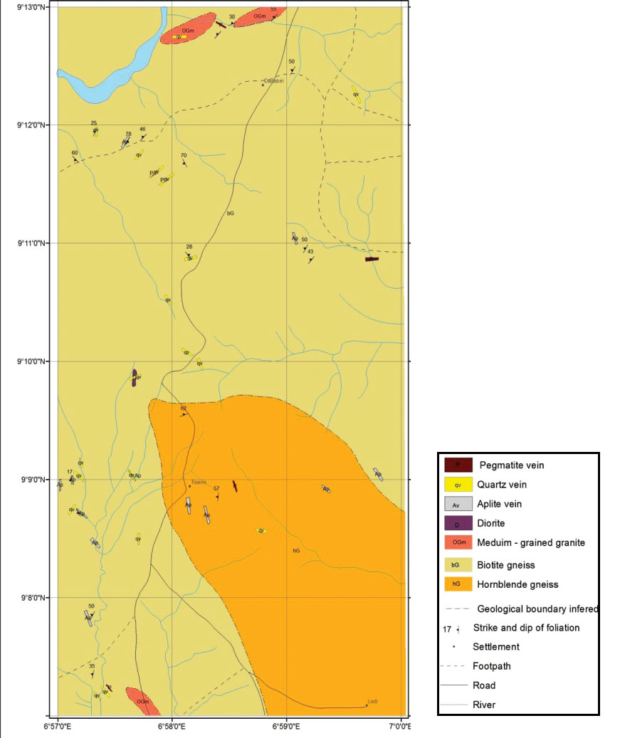 Nigeria - Lead Project - geological map